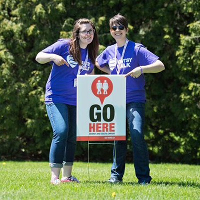 Sarah Bouchard - Sudbury Chapter President and Sarah Lavoie - 2019 Gutsy Walk Chair