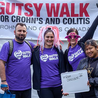 Participants de la Marche Gutsy